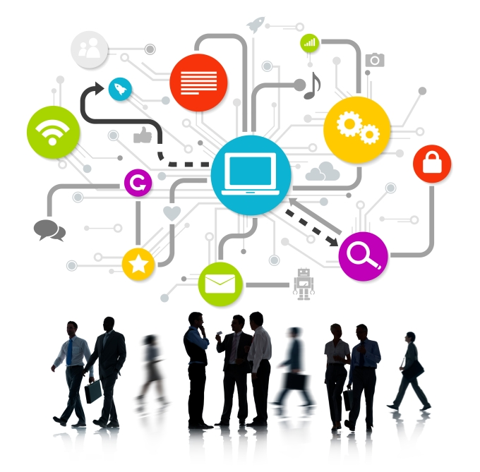 Group Of Business People Working And Global Networking Themed Im