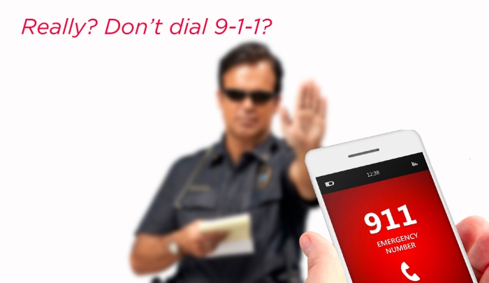 REALLY?    Don't call 911??